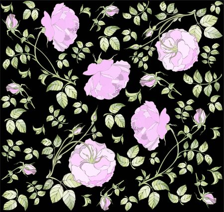 fabric design: Seamless background from a flowers ornament, fashionable modern wallpaper or textile.