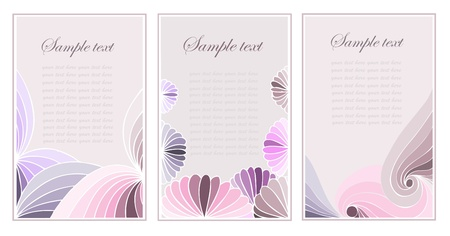 �ard: Beautiful abstract wavy background design.Abstract business сard.