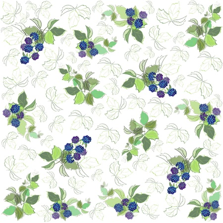 Seamless background from a berry ornament, fashionable modern wallpaper or textile. Vector Illustration