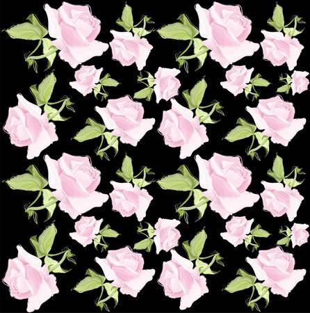 Seamless background.Illustration rose. Vector