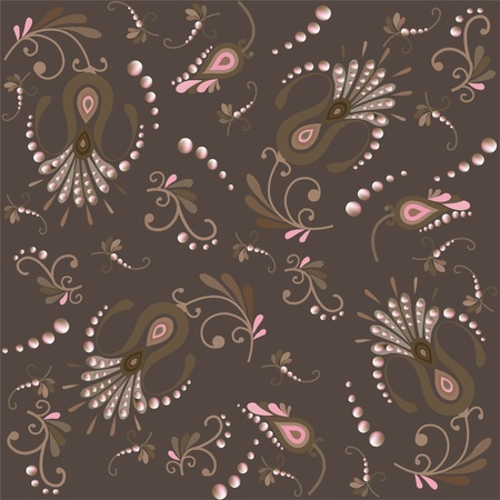 Floral background. Seamless background. Vector