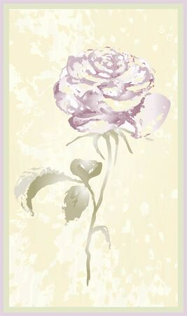 Greeting card with rose. Illustration  roses. Stock Vector - 9779121