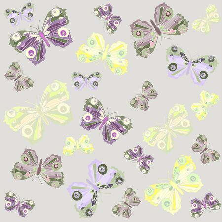 Seamless background. Illustration  butterflies. Beautiful  butterflies.    Vector