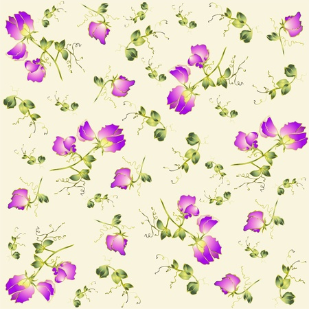 Seamless background from a flowers ornament, fashionable modern wallpaper or textile. Stock Vector - 9945956