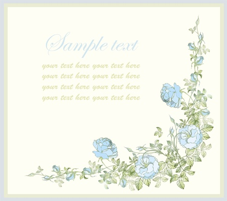 rose garden: Greeting card with rose.