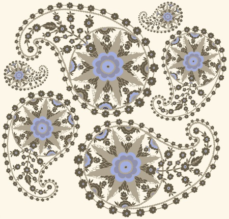 persia: Seamless background from a paisley ornament, fashionable modern wallpaper or textile.