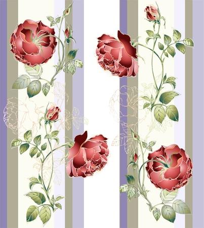 иллюстрировать: Бесшовные фон из цветов орнамент, модные современные обои или текстиля.