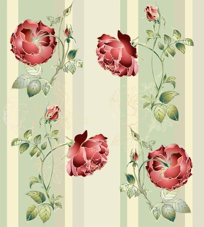 Seamless background from a flowers ornament, fashionable modern wallpaper or textile. Stock Vector - 10407957