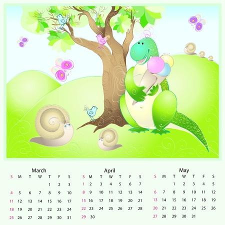 calendar 2012 spring Vector
