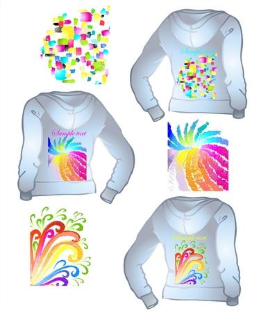sportswear: Element for design. Illustration of female sportswear.