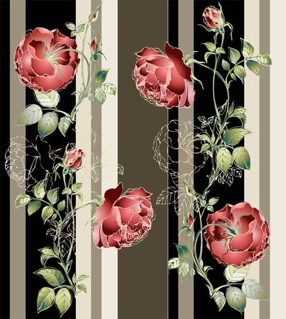 Seamless background.Illustration rose. Illustration
