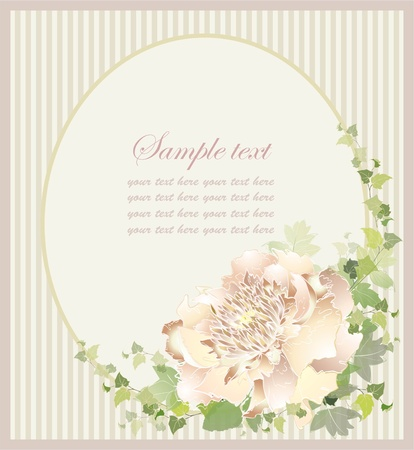 mothers day background: Greeting card with peony. Illustration peony.