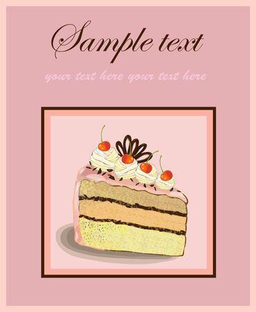 fruitcake: Illustrations of the cake.Menu.