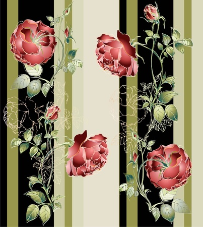 Seamless background.Illustration rose. Illustration