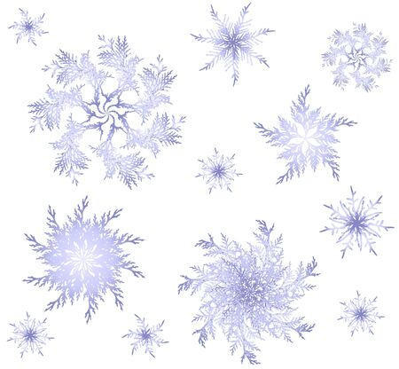 Seamless background with beautiful snowflakes. Vector