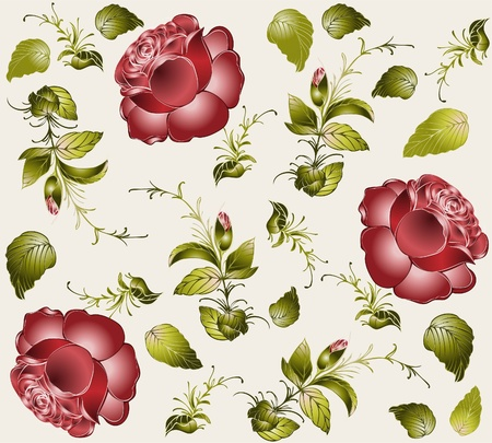 botanic: Seamless background from a flowers ornament, fashionable modern wallpaper or textile.