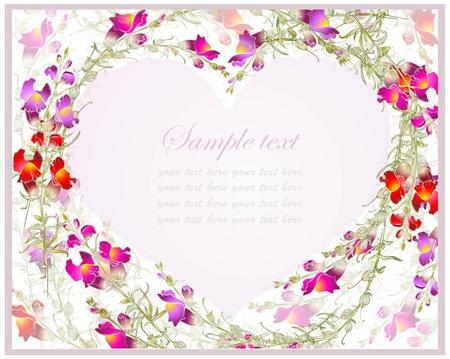 cuore in mano: Cuore decorativo. Disegnata a mano card giorno di San Valentino auguri