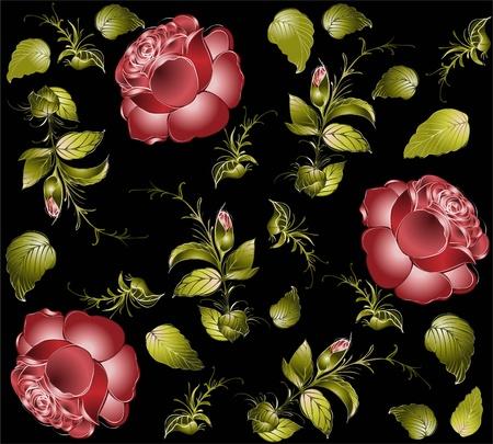 꽃 장식, 세련 된 현대 벽지 또는 섬유에서 원활한 배경입니다.
