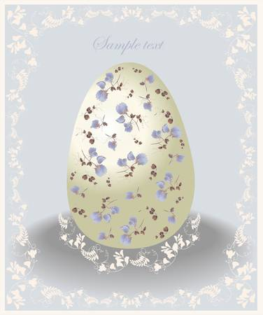 Easter card.  Illustration of Easter eggs. Illustration lace. Stock Vector - 12918522