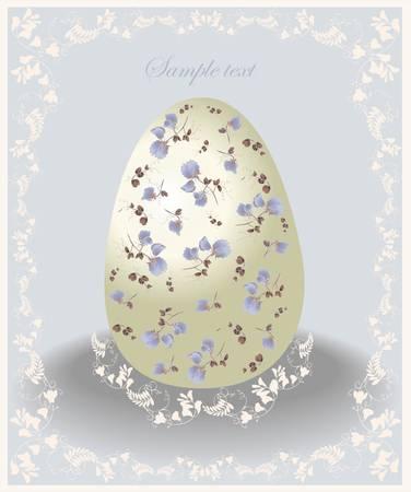 Easter card.  Illustration of Easter eggs. Illustration lace.  Vector