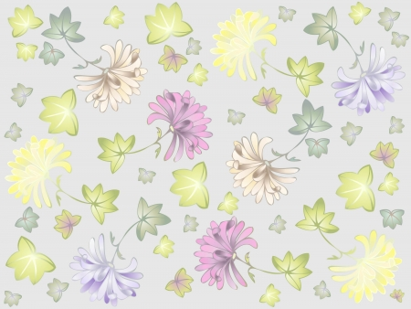 Seamless background. Illustration daisies. Vector