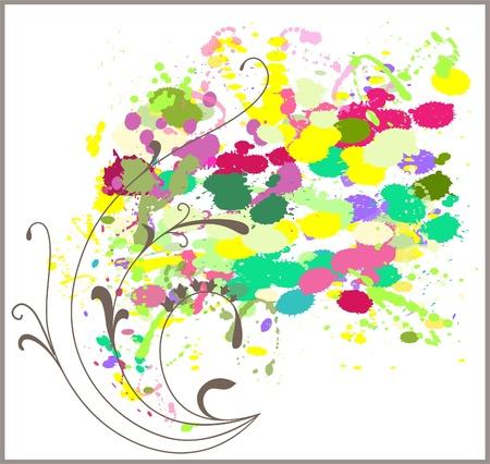 plenty: Golden horn of plenty with floral patterns. Illustration