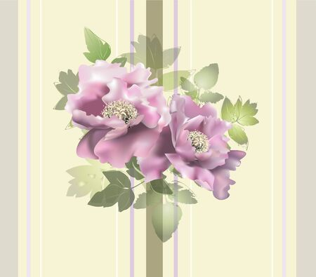 Seamless background from a flowers ornament, fashionable modern wallpaper or textile.    Illustration  peony. Vector