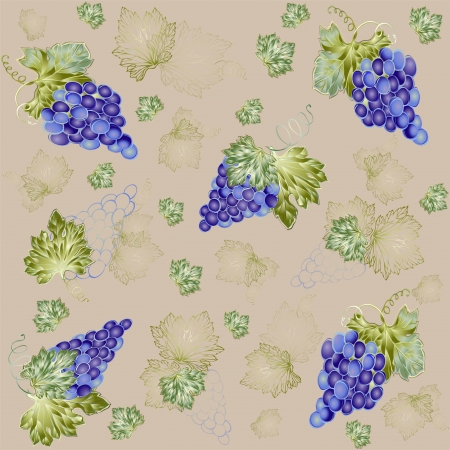 Illustration grapevine.Seamless background.  Vector