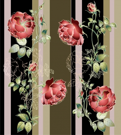 Seamless background.Illustration rose. Vector