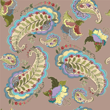 magnificence: Seamless background from a paisley ornament