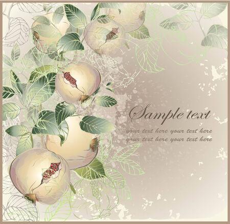 garnet: Illustration garnet tree.  Vintage background with garnet tree. Rich wine background.