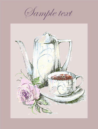 cor: Background.Coffee.Menu. Illustration