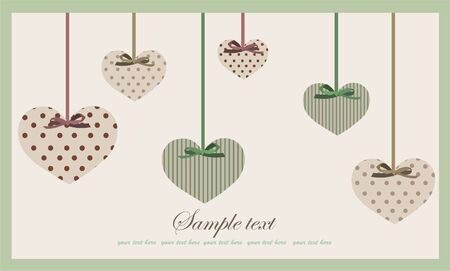 heart hand: Decorative heart.  Hand drawn valentines day greeting card. Illustration