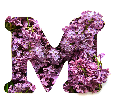 Flower Alphabet M Stock Photos And Images 123rf
