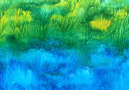Abstract multi-colored watercolor texture, for the design of creative works Standard-Bild