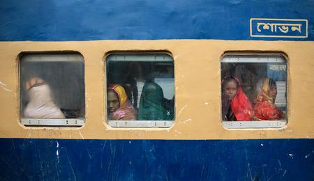 south asians: Female Pilgrim Travel to Home After Ijtema Prayer