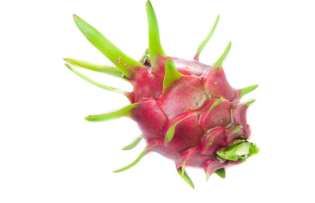Dragonfruit with white background photo