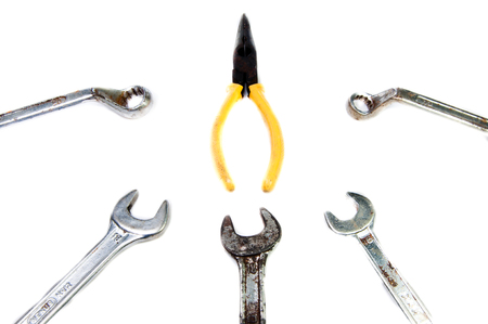 Tools with white background photo