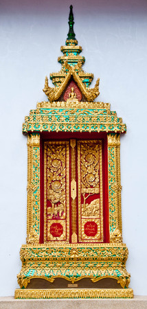 Thailand temple window photo