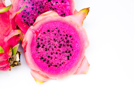 Red Dragonfruit with white background photo