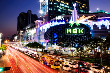 M B K Shopping cent ter in Bangkok twilight