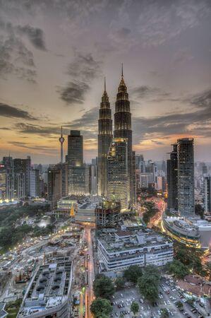 KUALA LUMPUR, MALAYSIA - 22 DECEMBER 2015 : Kuala Lumpur city during sunset. Editorial