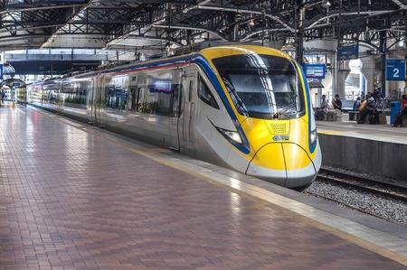 KUALA LUMPUR, MALAYSIA - 10 JANUARY 2016: Kuala Lumpur Railway Station is a railway station located in Kuala Lumpur. It was completed in 1910.
