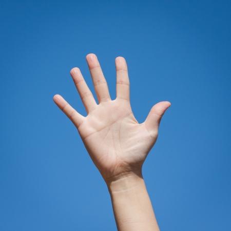 Gesture symbol number five
