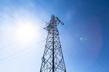 electrical materials: power tower Stock Photo