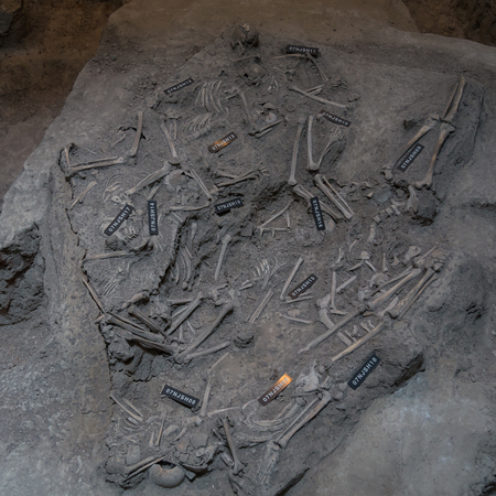 Bones of buried victims