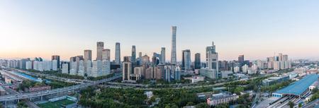 Beijing CBD Skyline Panorama