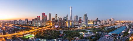 Beijing CBD Skyline Panorama 写真素材 - 111171141