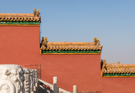 Beijing Forbidden City geometric shape wall