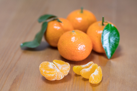 Fresh tangerine close up 免版税图像